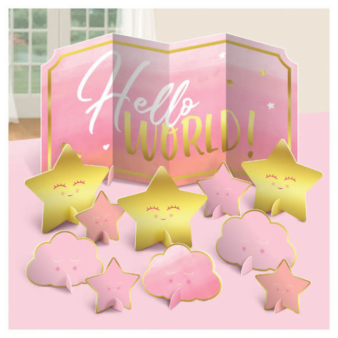 Oh Baby Girl Table Centerpiece Decoration -11ct