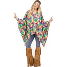 Hippie Character Poncho- Adult