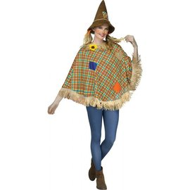 Sweet Scare Crow Character Poncho- Adult