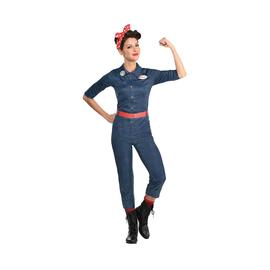 Women's Rosie the Riveter Denim Jumpsuit (#382)