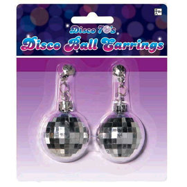 Earrings 70's Disco Ball