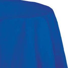 "Cobalt Paper Round Tablecover 82"", Poly Backing"
