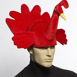 Red Plush Turkey Hat