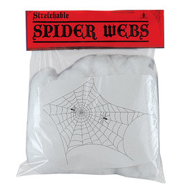 Giant White Spider Web with Spiders - 2oz