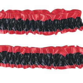 Garter Armbands- Red/Black
