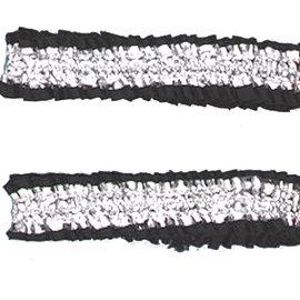 Garter Armbands- Black/Silver