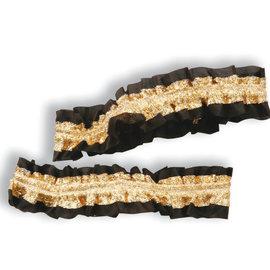 Garter Armbands- Black/Gold