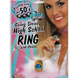 Going Steady High School Ring with Chain