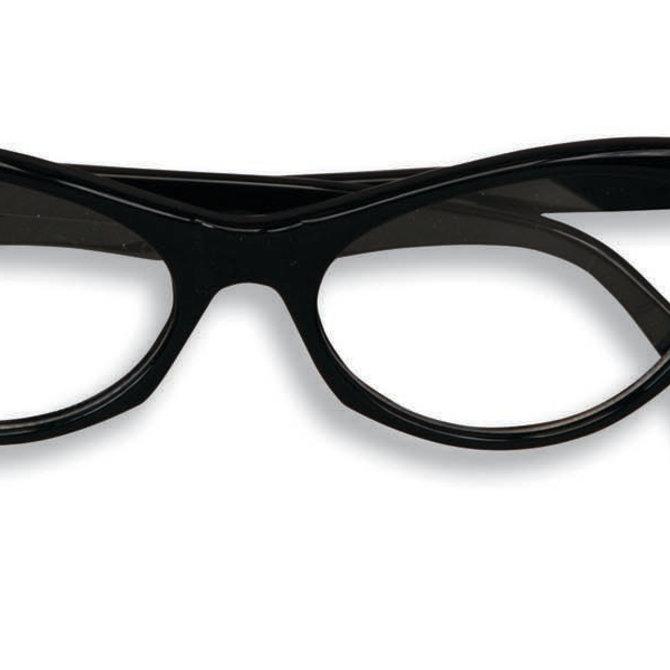 50's Rhinstone Glasses- Black