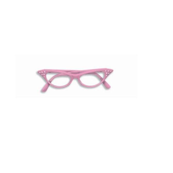 50's Rhinstone Glasses- Pink