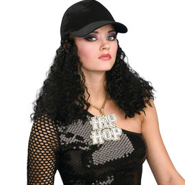 Hip Hop Girlfriend Wig with Hat