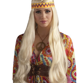 Hippie Chick Blonde Wig with Headband