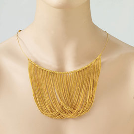 Gold Chain Disco Necklace