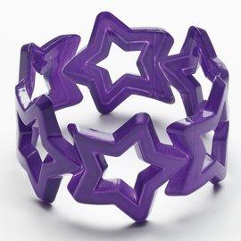 Neon Star Bangle- Purple