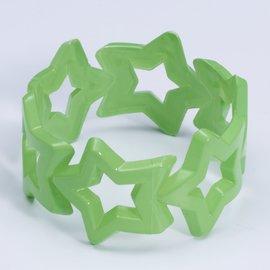 Neon Star Bangle- Green