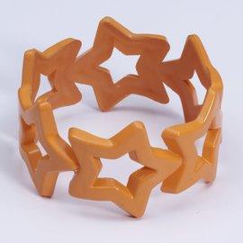 Neon Star Bangle- Orange