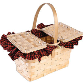 Little Red Basket with Gingham
