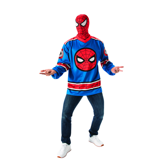 Adult Spider-Man Costume Jersey Top Set - Marvel Universe