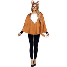 Deluxe Animal Fox Poncho