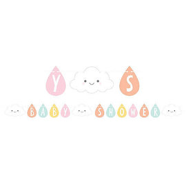 Happy Clouds Baby Shower Banner