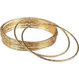 Gold Goddess Bangle Bracelets