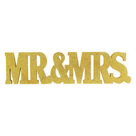 "Mr. & Mrs. Glitter Standing Decoration-  5 1/2"" x 22"""