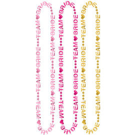 Team Bride Multipack Word Bead Necklaces, 6 ct