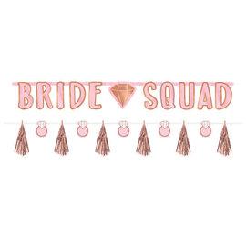 "Blush ""Bride Squad"" Wedding Banner Kit -2ct"