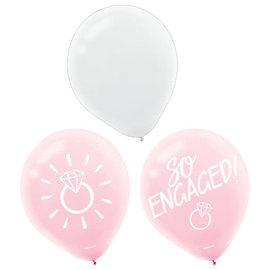 "Blush Wedding Latex 12"" Balloons -15ct"