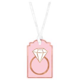 Blush Wedding Tags- 25ct
