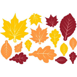 Fall Leaves Paper Value Pack Assorted Cutouts