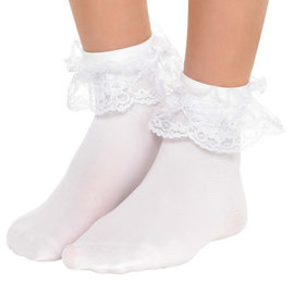 White Lace Anklets - Child