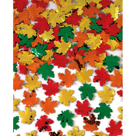Maple Leaves Metallic Foil Confetti