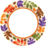"Autumn Warmth Value Plates, 6 3/4"" -40ct"