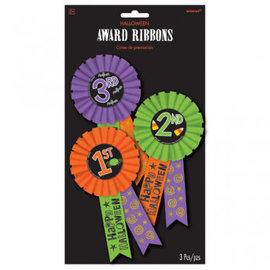 Halloween Award Ribbon Multi Pack 3ct