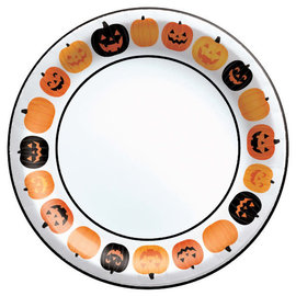 "Pumpkin Fun Round Plate Value 6.75"" -40ct"