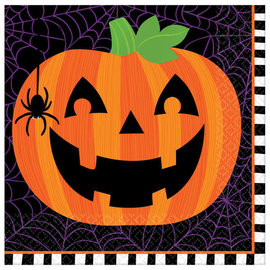 Pumpkin Flair Luncheon Napkins -16ct