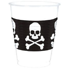Skull & Crossbones Plastic Cups, 16 oz. -25ct