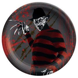 "Nightmare On Elm Street™ 7"" Round Plate -8ct"