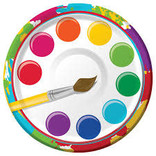 """Art Party 7"""" Paper Plate, 8 ct"""