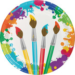 """Art Party 9"""" Paper Plate, 8 ct"""