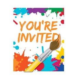 Art Party Invitation, 8 ct
