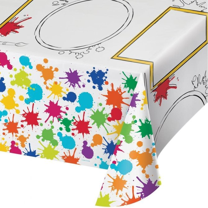 "Art Party Kid's Activity Paper Tablecover, 54""x 96"""