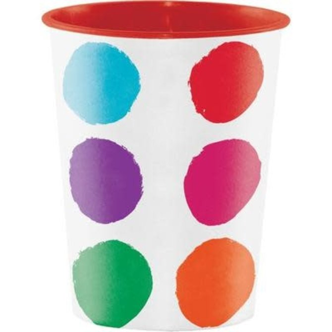 Art Party Plastic Favor Cup, 16 oz