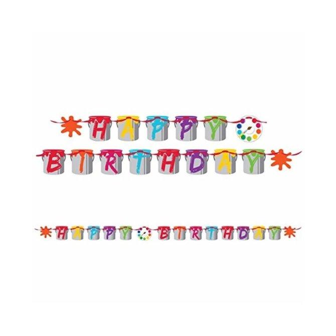 "Art Party Ribbon Birthday Banner, 6"" x 7'"