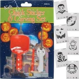Kid's Quick Sticker & Carving Set