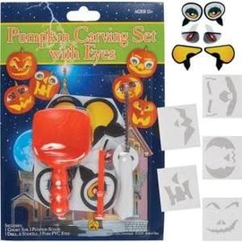 Pumpkin Carving Set with Eyes