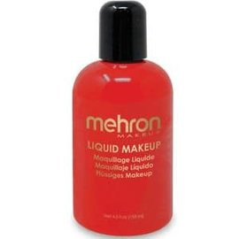 Mehron Liquid Makeup- Red 4.5oz