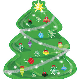 "Christmas Tree 9"" Dinner Plate"