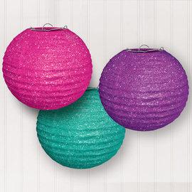 Sparkle Glitter Lanterns -3ct